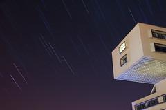 (inhiu) Tags: longexposure nightphotography travel architecture night georgia star nikon communist soviet d800 urbex startrail urbanexploartion inhiu bankofgeorgiaheadoffice