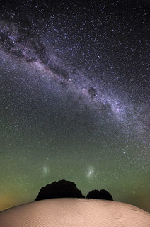 Milky Way & Magellanic Clouds over Nambung Desert, Western Australia