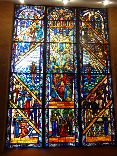 Stain glass window based on gospel songs
