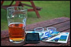 Beer Phone Biro Glasses Cards (zweiblumen) Tags: uk beer glasses scotland alba postcards mobilephone brodick isleofarran hdr biro ballpoint polariser northayrshire eileanarainn canoneos50d zweiblumen breadhaig ormidalehotel