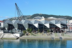 Terraced Cafe (mikecogh) Tags: roof architecture design cafe waterfront contemporary steps wellington angular terraced