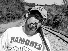 Batter (@luizjrgarcia) Tags: boy portrait ny blackwhite baseball sony ramones mustache alpha pretoebranco dsc dt portaretrato beisebol yankes alpha37