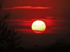 Sunset (Camilla Mugnisi) Tags: sunset red sky sun milan nikon nofilter italiy