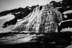 Freya's bath (lunaryuna (back from Iceland and catching up)) Tags: longexposure bw mountain water monochrome landscape blackwhite waterfall iceland le lunaryuna westfjords dynjandiwaterfall