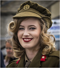 Army Glamour (cconnor124) Tags: cute beauty portraits army glamour uniform pretty canoneos beautifulportraits canon100400lens haworth1940sweekend canon760d haworth2016