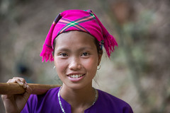 Vietnam: jeune femme; ethnie des Lolo noir. (claude gourlay) Tags: portrait people face asia retrato vietnam cao asie bang ethnic minority ritratti ritratto indochine tonkin baolac ethnie minorit claudegourlay lolonoir
