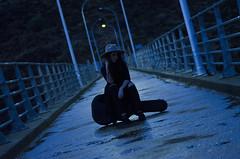 XIII (Rubn T.F.) Tags: portrait night girl woman winter blue cold brigde bidge bridge