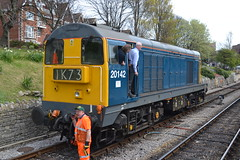 Class 20 - 20142 (Will Swain) Tags: uk travel england west english heritage station train during diesel britain south transport may rail railway trains class southern vehicles vehicle preserved 20 railways 7th gala isle swanage purbeck 2016 20205 20142