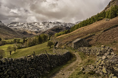 Little Langdale (shellyparente) Tags: england sky nature clouds landscape countryside outdoor path hill cumbria mountainside grassland foothill