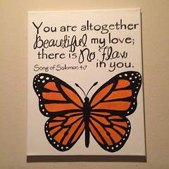 Day 23- Made by Me (kelli.bergin) Tags: painted canvas day23 madebyme scripture imadeit