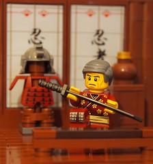 the katana (legophthalmos) Tags: portrait japan war lego battle sword warrior samurai blade katana hanzo hatori