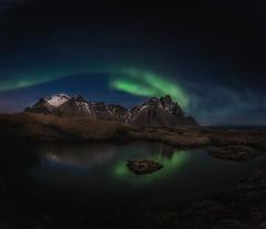 Stockness lights (hectoriz) Tags: verde reflections iceland northernlights auroraborealis stockness