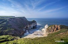 Thornwick Bay, Flamborough (MichikoSmith) Tags: uk blue sea england cliff beach water rock canon eos bay yorkshire north stack east riding 6d thornwick flamborough