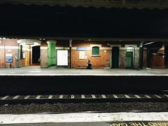 Waiting (Jennifer Lea) Tags: girl train trainstation passenger ride lady winter melbourne westrichmond night