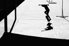 Elf (lucycawood) Tags: shadow bw film silhouette skate monsterchildren