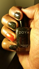 Zoya - Storm (black) Zoya - Amy (orange) (NailPolishDude23) Tags: orange storm black sexy beautiful beauty glitter zoya pretty amy nail polish mani nails manicure ebony unhas zoyastorm zoyaamy