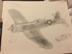 Any aircraft fans out there? Name the plane! -Nathan (CharlieCompanyProductions) Tags: wwii aviation drawing
