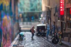June in Melbourne (daniellih) Tags: street city urban streetart rain june landscape graffiti alley downtown cityscape metro australia melbourne victoria rainy alleyway lane cbd metropolitan urbanscape 2016 canonbody businessdistrict nikonlens hosierln freelens freelensing daniellih