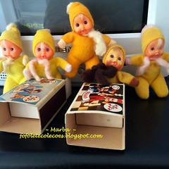 Fofoletes Trol (~Marba~Furtado~) Tags: yellow vintage doll boneca fofolete amarelas trol bonequinha beandoll olhodevidro tinydoll matchboxdoll beandolls