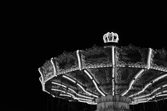 State Fair (Melissa_JMH) Tags: blackandwhite white black beautiful outside outdoors lights blackwhite chair ride state statefair fair swing rides chairswing