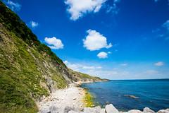 Secret Beach Durlston - July 2016 (3 of 6).jpg (philipc) Tags: blue sea summer sky clouds rocks secretbeach cliffs dorset swanage durlston