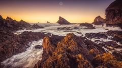 Peaks and Troughs (Augmented Reality Images (Getty Contributor)) Tags: canon coastline landscape leefilters longexposure morayshire nature portknockie rocks scotland sea seascape sunset water waves
