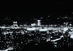Taipei Noir - 02 (bluetrayne) Tags: urban city cityscape nightphotography blackandwhitephotography analogphotography longexposure monochrome citylights skyscraper architecture building taiwan taipei asia