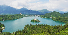 Magical bled (mariajones6) Tags: blue trees lake mountains green nature water beautiful wonderful walking island amazing scenery europe view hiking slovenia bled colourful viewpoint lakebled bledcastle bledisland ojstrica
