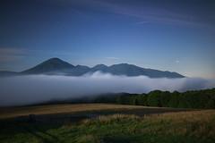1194 (Keiichi T) Tags: sky   moonlight  eos   green canon shadow japan   seaofclouds  star mountain night mist forest tree cloud    fog   6d  blue     light