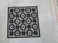 cross stitch pattern design (Snailystitches) Tags: cross stitch pattern design black needlework needlecraft xstitch blackwork shapes symmetry stitching