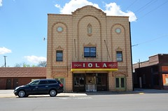 Kansas, Iola, Iola Theater (EC Leatherberry) Tags: 1931 movie theater allencounty artdecostyle iolakansas iolatheatre