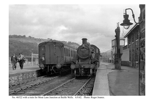 Builth Wells. 46522 & train for Moat Lane Junction. 6.9.62