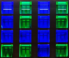 Windows (stephan.hickisch) Tags: city blue windows light urban building green architecture night germany evening frankfurt main financial metropole