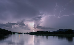 Wrath (Tricycl) Tags: thunder storm tempte orage rivire river kwai water canon 5d mark iii 3 1740mm 17 40mm 40 mm kanchanaburi lighning clair night nuit bolt how get explored flickr explore landscape