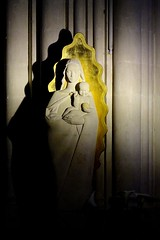 Comme un signe... (sergecos) Tags: graphisme graphic vierge statue religion basilique lumire light notredamedepeyragude trait spot signe sign sony ombres shadows contraste love