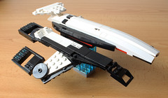 Normandy SR-1 (with instructions) (hachiroku24) Tags: lego spaceship ship mass effect videogame normandy game scifi moc afol creation