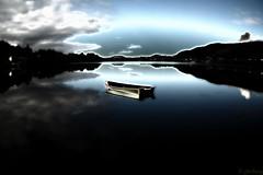 """all alone"" (jforberg) Tags: 2016 water norway noregia norwegian aalesund jonforberg skandinavia sky landscape boat mirror"