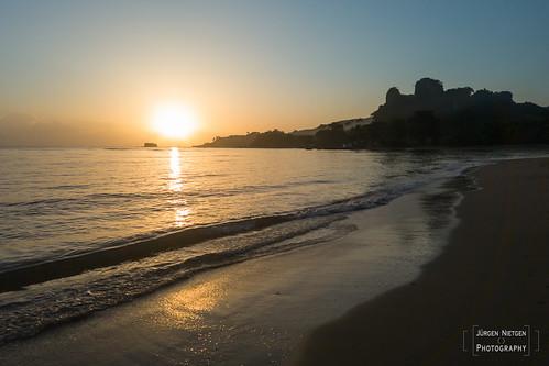 Sonnenaufgang am Strand von Maimon