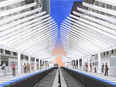 Washington/Wabash Artist's Rendering (cta web) Tags: railroad chicago art station downtown cta loop tracks railway shelter rendering thel canopies