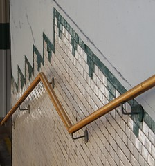 (:Linda:) Tags: wall germany tile town thuringia railwaystation handrail downstairs themar
