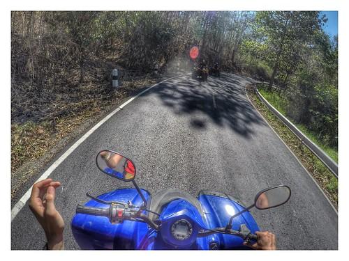 Riding ATV to the Chiang Mai beautiful mountain
