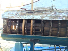 IMG_0873 - Port Townsend WA - Shipwright's Co-Op - MV RIPTIDE - starboard side, just forward of transom - sistered frame (BlackShoe1) Tags: boat washington olympicpeninsula vessel wash porttownsend pacificnorthwest wa pugetsound washingtonstate riptide 1927 cya jeffersoncounty cabincruiser porttownsendwa schertzer victorianseaport recreationalvessel classicyachtassociation eastjeffersoncounty bridgedeckcruiser porttownsendshipwrightscoop shipwrightscoop mvriptide raiseddeckcruiser schertzerboatandmachinecompany