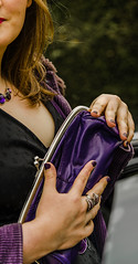 Louise clutch bag close up (andrewphoto100) Tags: fashion coat blackdress portarit clutchbag necklance