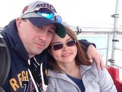 me and nathalie navy pier. march 2015 (timp37) Tags: show chicago flower me wheel garden march pier illinois navy nat ferris nathalie friday 2015