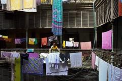 Urban Story (Sandipa Malakar (bristii)) Tags: urban woman india building colorful asia citylife dry clothes saree oldbuilding canon1740l colorimage easternindia northkolkata eos60d kolkatabengalwestbengal