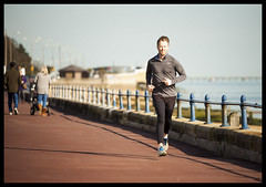 Joggers No1 (exreuterman) Tags: sea holiday beach thames canon river walking lens exercise zoom running hobby estuary promenade 5d activity seafront jogging essex southend westcliff strolling daytrippers 80200l