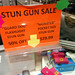 Stun Gun Sale sign, mall, Tempe, Arizona, USA