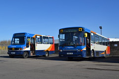 Stagecoach Western 40098 M648FYS & 20526 R526VSE (Will Swain) Tags: uk travel england west bus buses yard march scotland britain garage transport 21st western depot stagecoach ardrossan 2015 20526 40098 r526vse m648fys