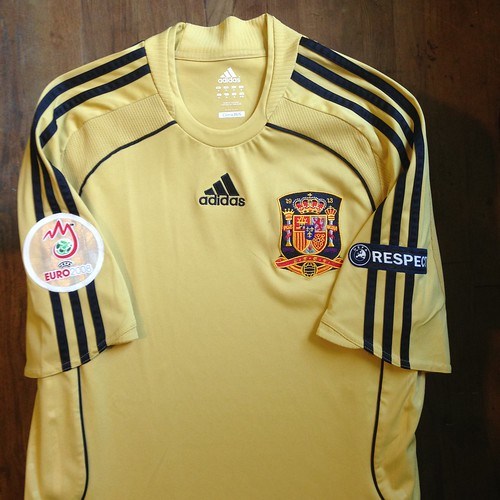 b2e2a5f79bf UEFA Euro 2008 Austria-Switzerland Spain Away Jersey