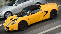 Lotus Elise S3 in Hong Kong (Ben Molloy Automotive Photography) Tags: hk motion sports car yellow photography ben lotus elise automotive hong kong vehicle british panning s3 molloy sportscar